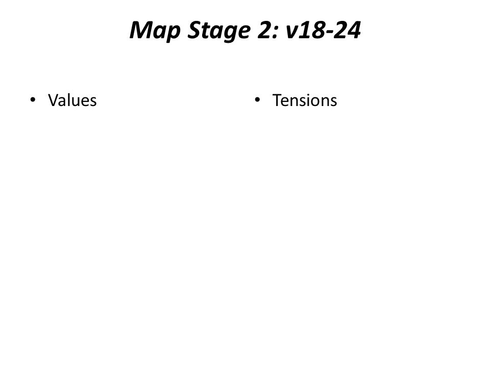 Map Stage 2: v18-24 Values Tensions