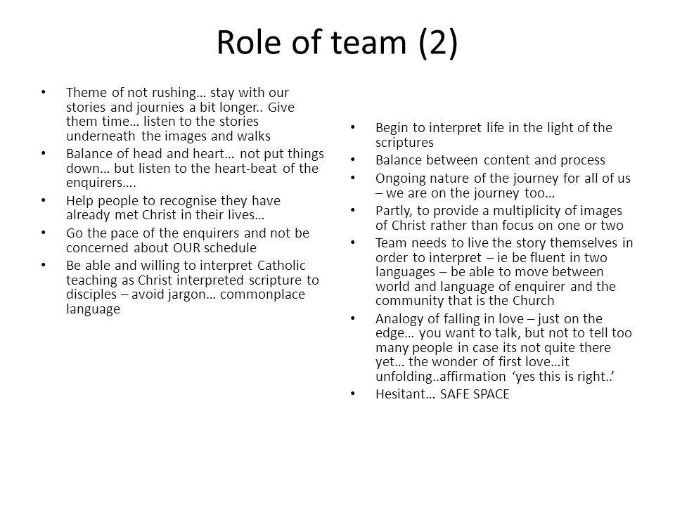 Role of team (2)