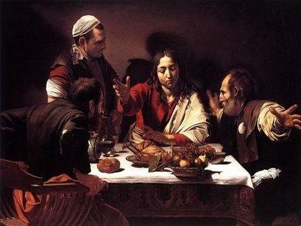 When he was at the table with them, he took bread, blessed and broke it, and gave it to them.
