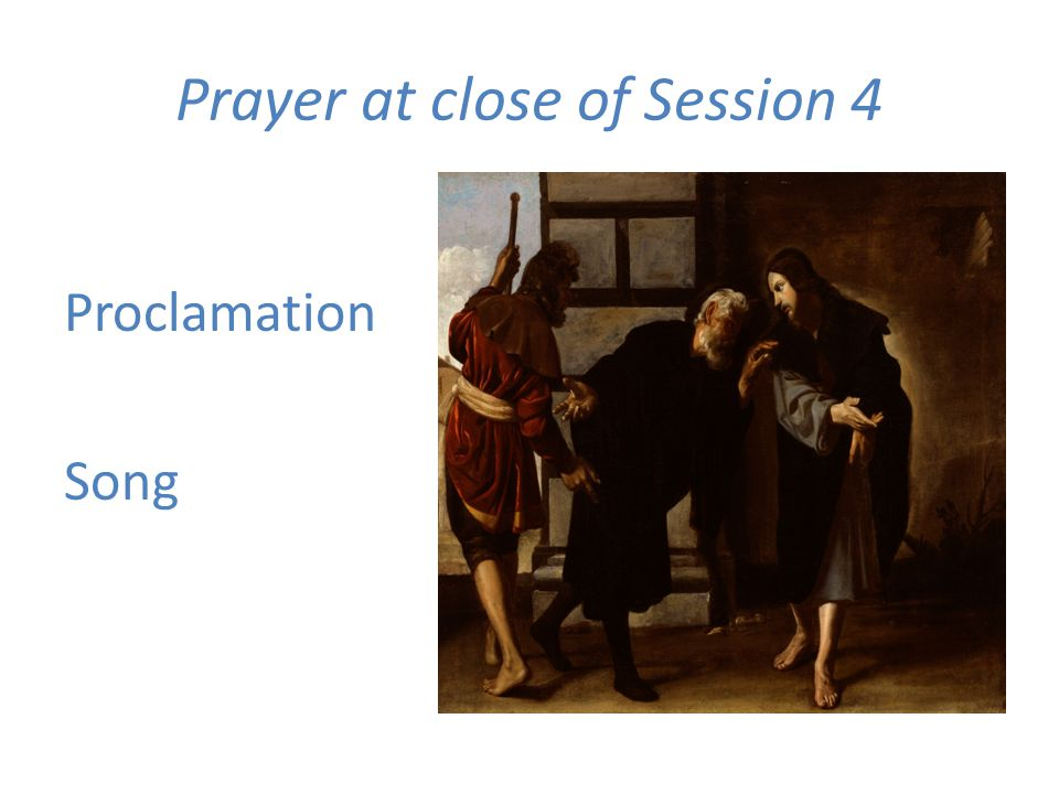 Prayer at close of Session 4