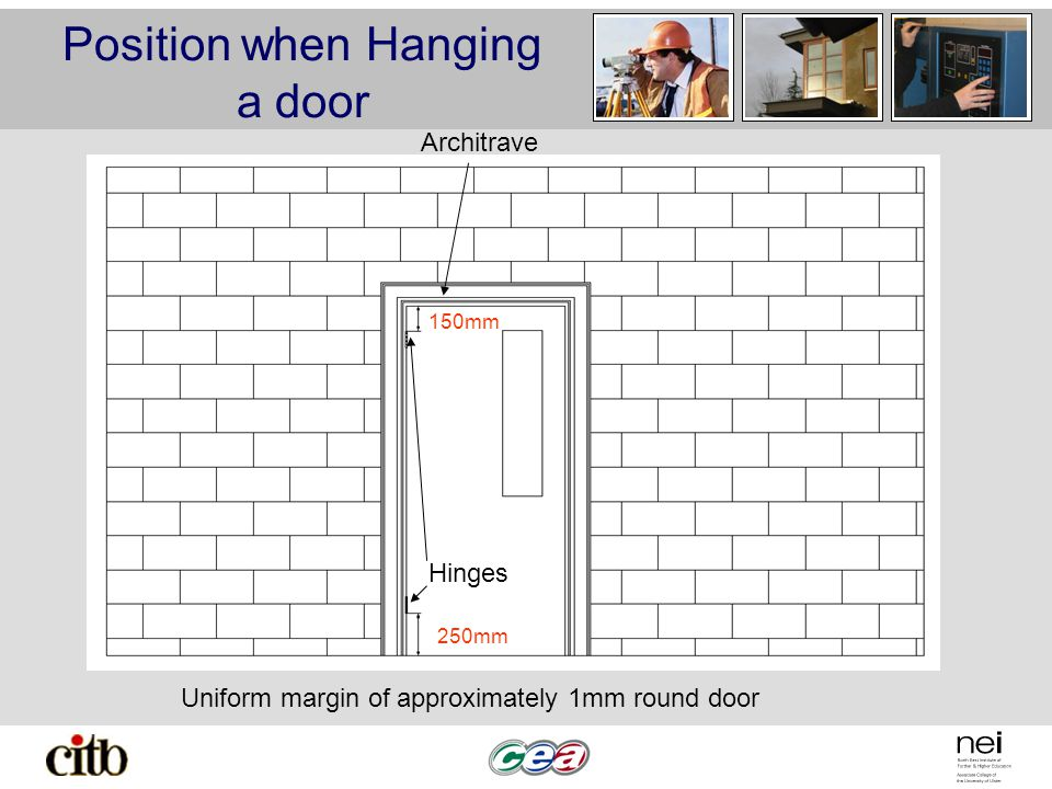 Position when Hanging a door