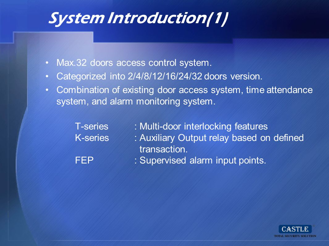 System Introduction(1)