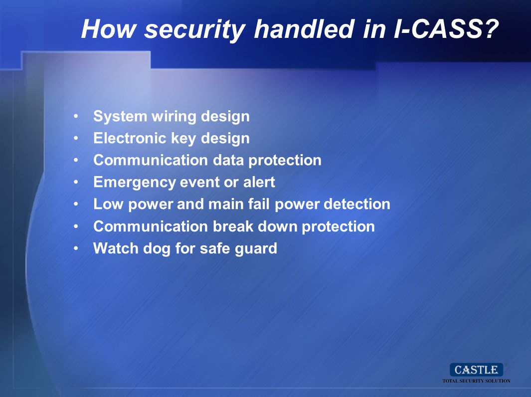 How security handled in I-CASS
