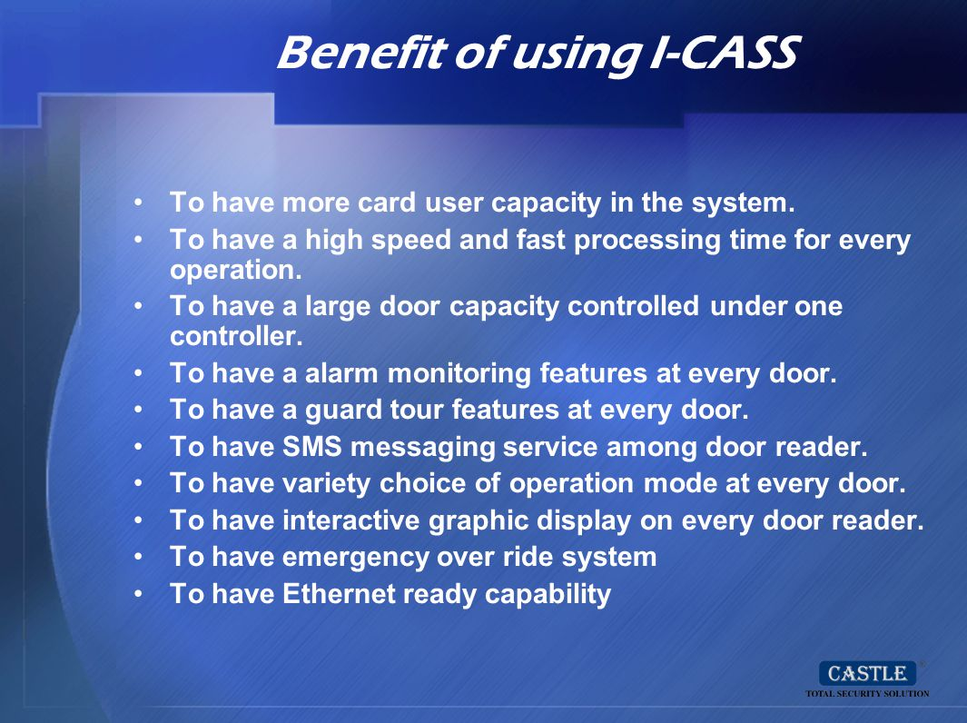 Benefit of using I-CASS
