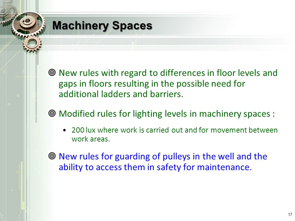 Machinery Spaces