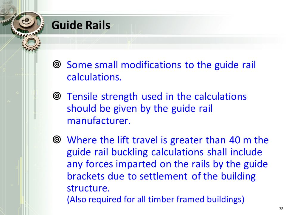 Guide Rails Some small modifications to the guide rail calculations.