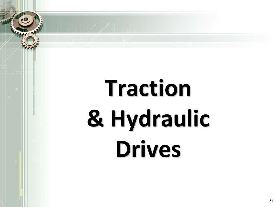 Traction & Hydraulic Drives