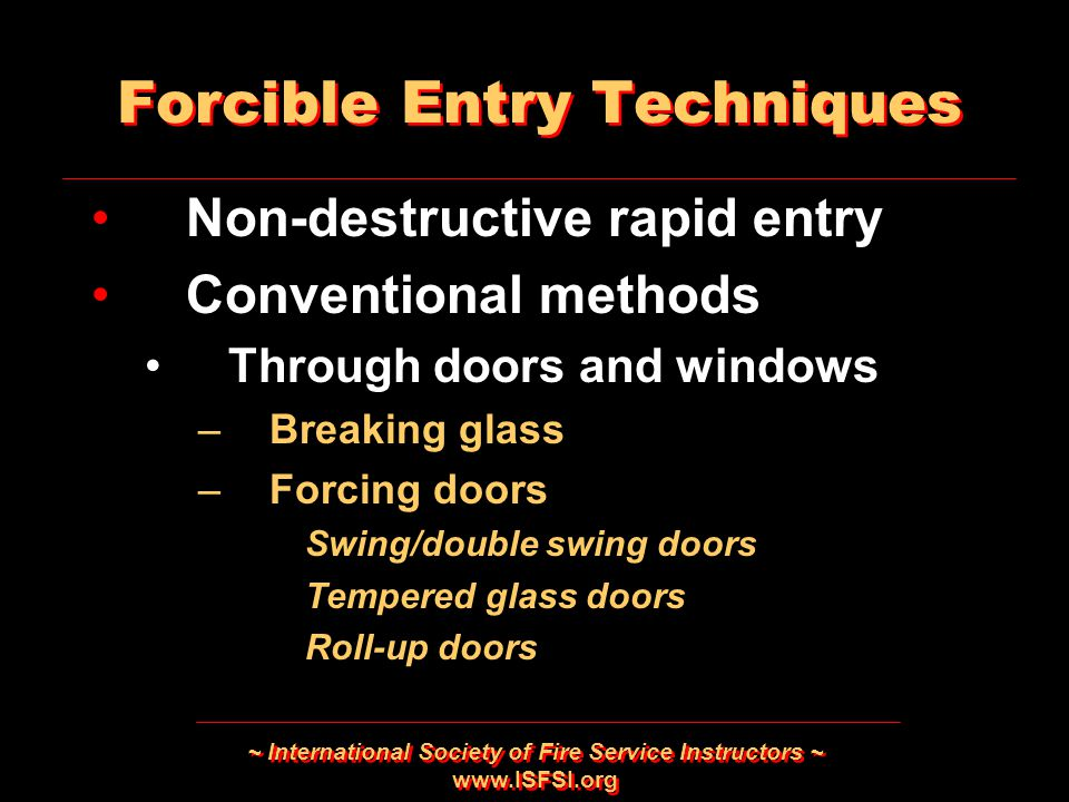 Forcible Entry Techniques