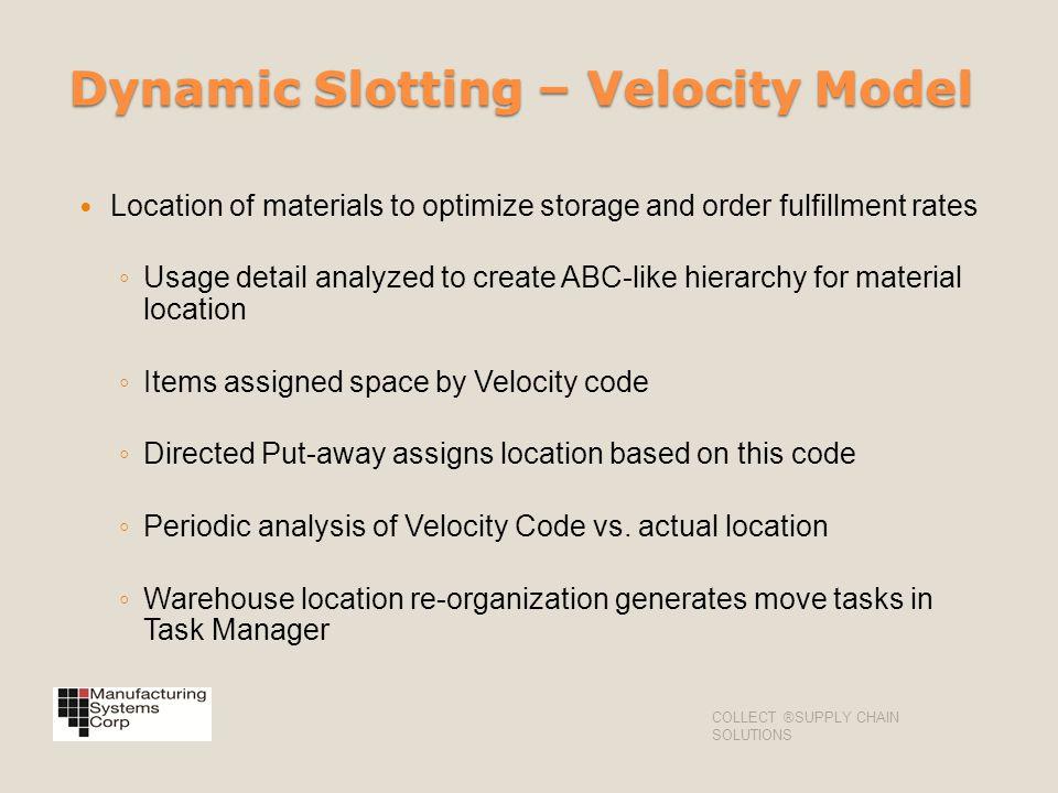 Dynamic Slotting – Velocity Model