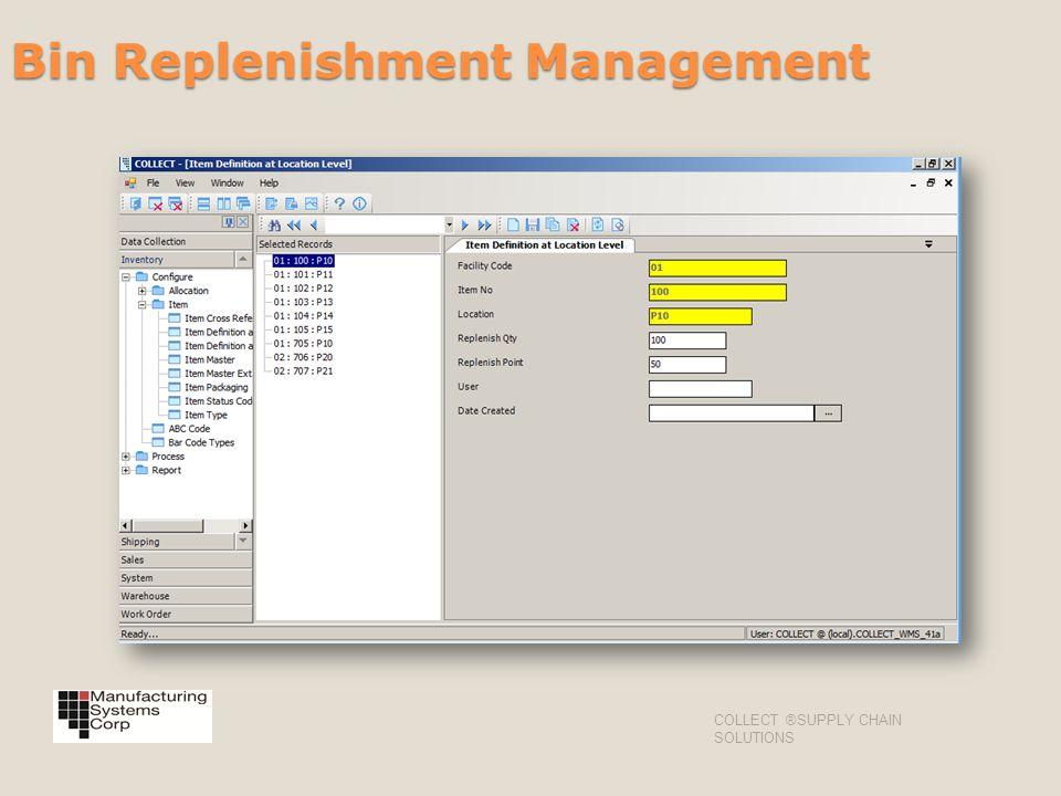 Bin Replenishment Management