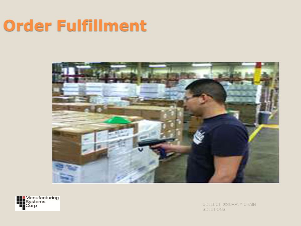 Order Fulfillment COLLECT ®SUPPLY CHAIN SOLUTIONS