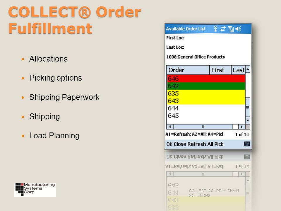COLLECT® Order Fulfillment