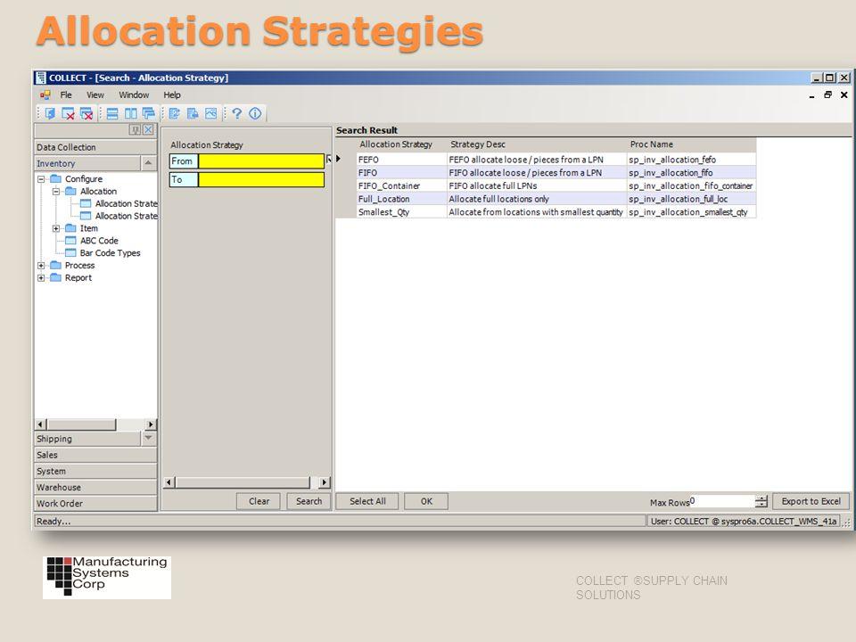Allocation Strategies