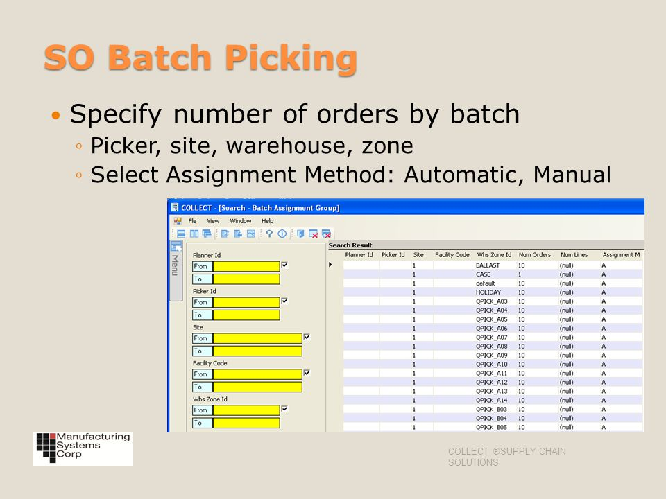 SO Batch Picking Specify number of orders by batch