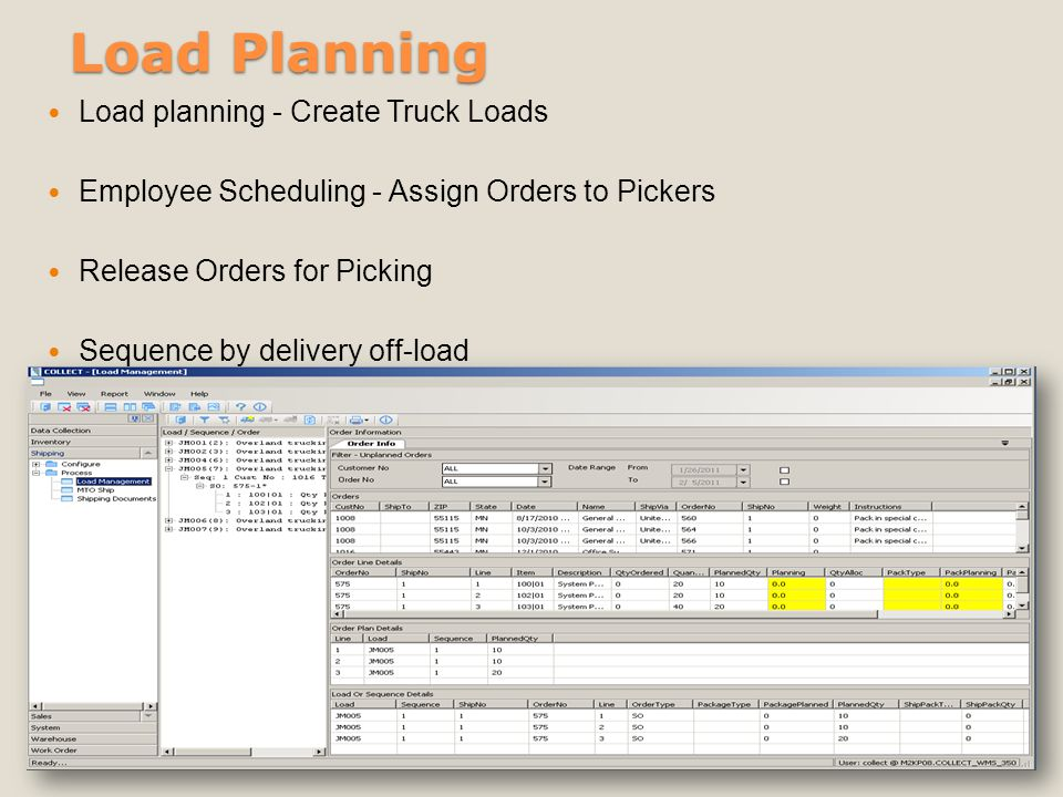 Load Planning Load planning - Create Truck Loads