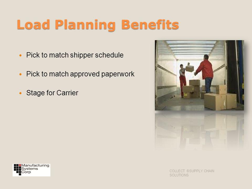 Load Planning Benefits