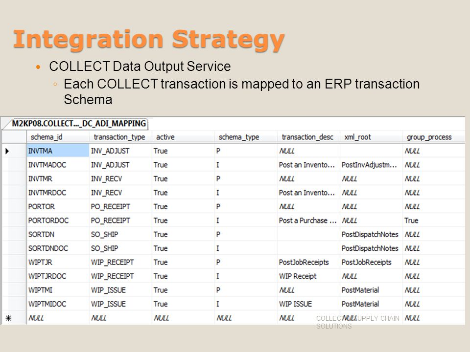 Integration Strategy COLLECT Data Output Service