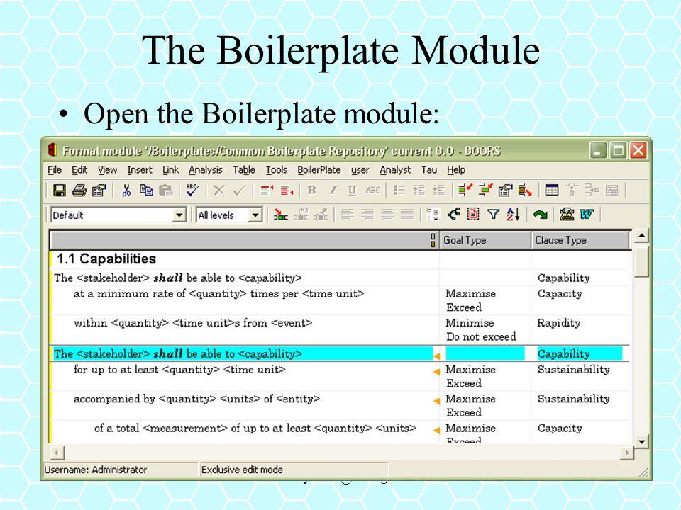 The Boilerplate Module