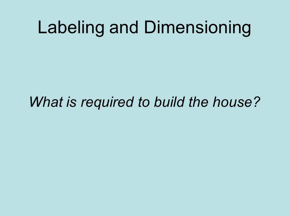 Labeling and Dimensioning
