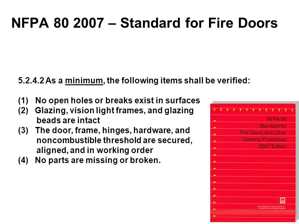 NFPA 80 2007 – Standard for Fire Doors