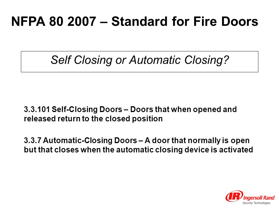 Self Closing or Automatic Closing