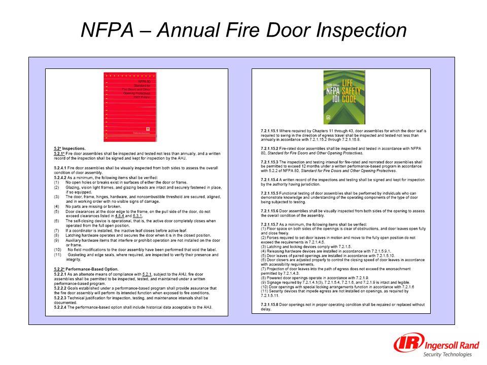 Fire Door Inspection Checklist : Annual fire door inspection ppt download