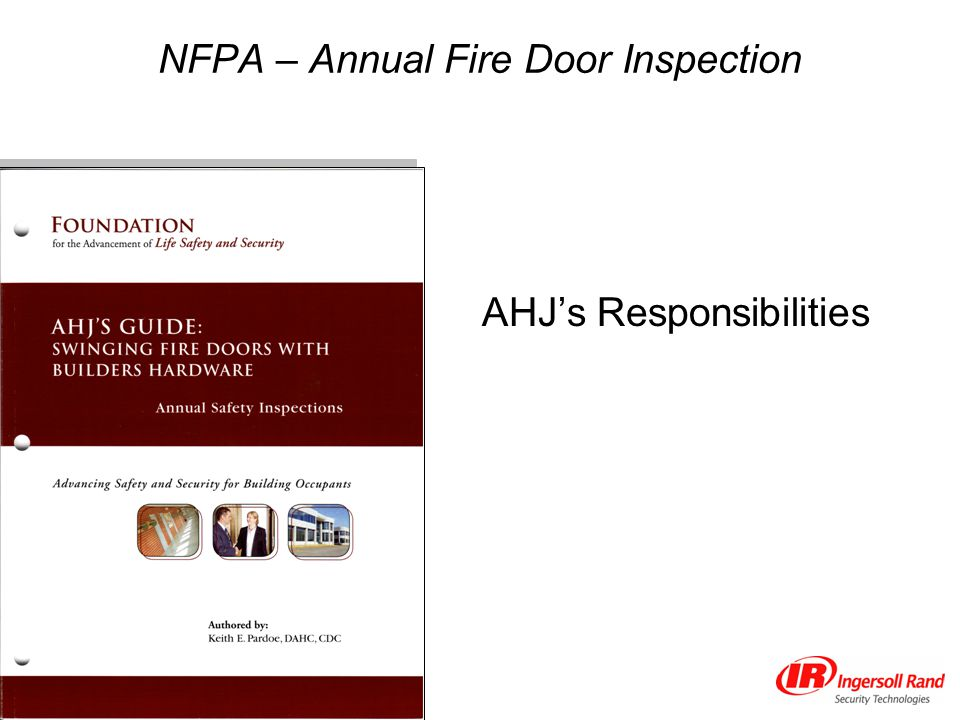 NFPA – Annual Fire Door Inspection