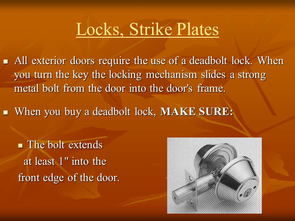 Locks, Strike Plates