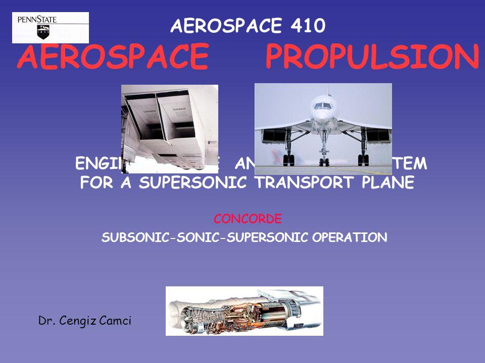 AEROSPACE PROPULSION AEROSPACE 410 ENGINE INTAKE AND NOZZLE SYSTEM