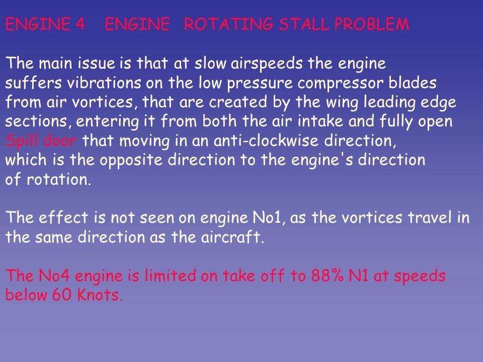 ENGINE 4 ENGINE ROTATING STALL PROBLEM