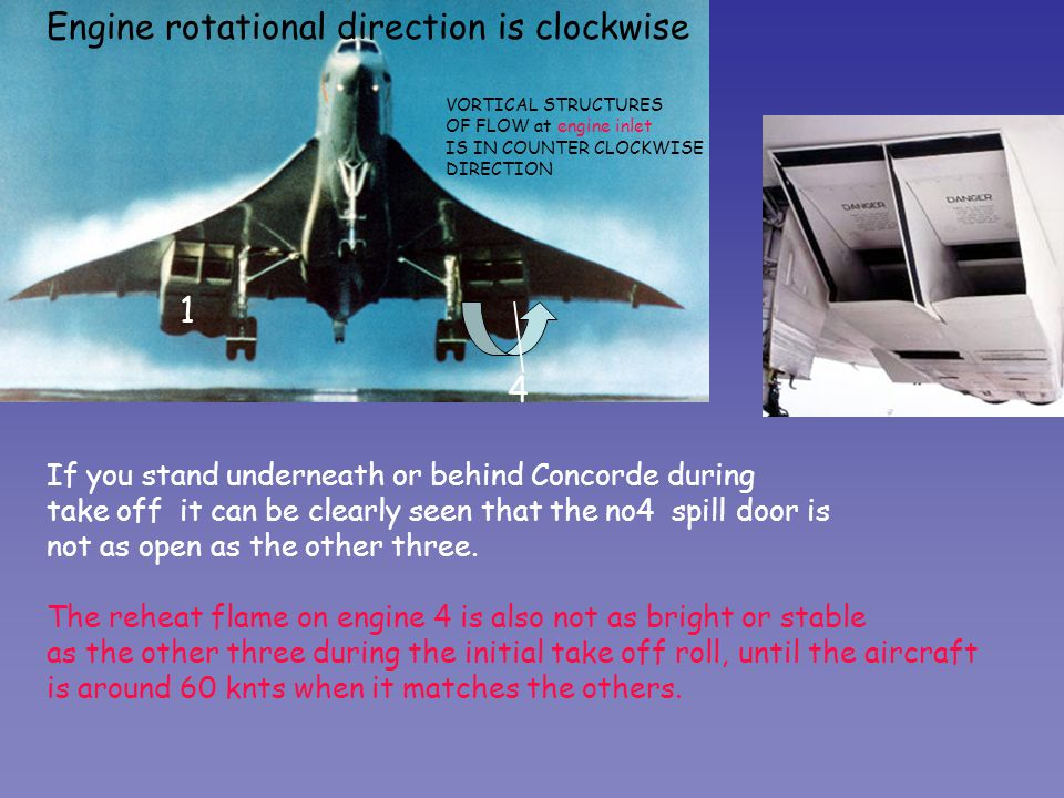Engine rotational direction is clockwise