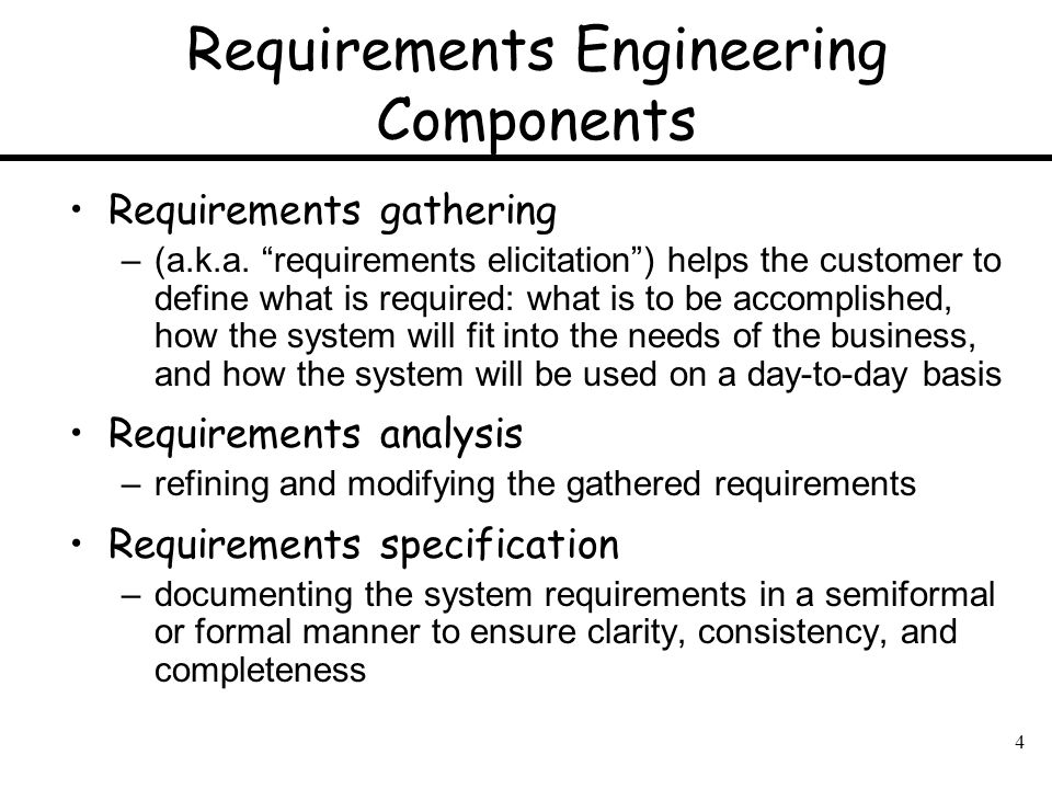 Requirements Engineering Components