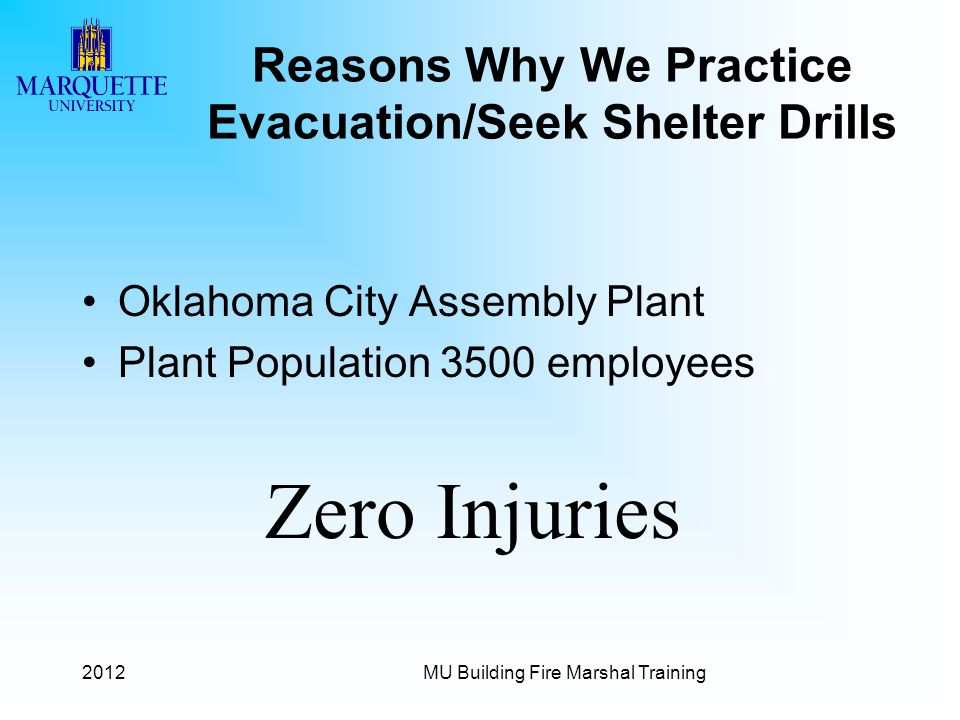 Reasons Why We Practice Evacuation/Seek Shelter Drills