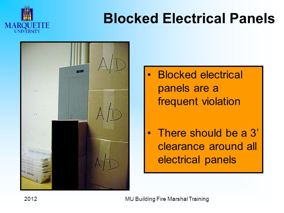 Blocked Electrical Panels