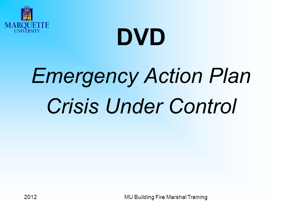 DVD Emergency Action Plan Crisis Under Control 2012
