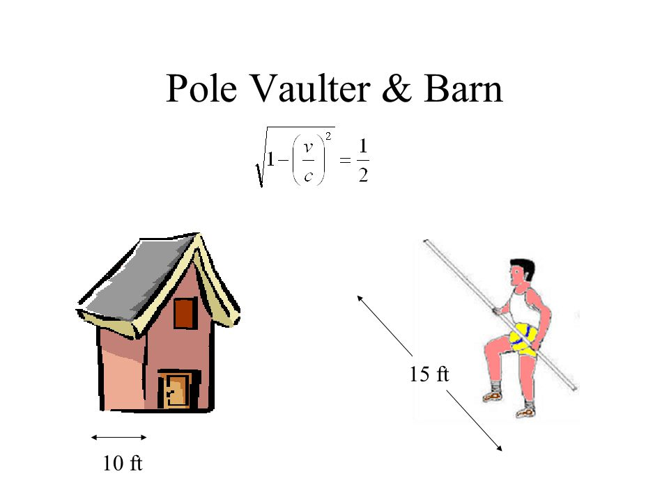 Pole Vaulter & Barn 15 ft 10 ft