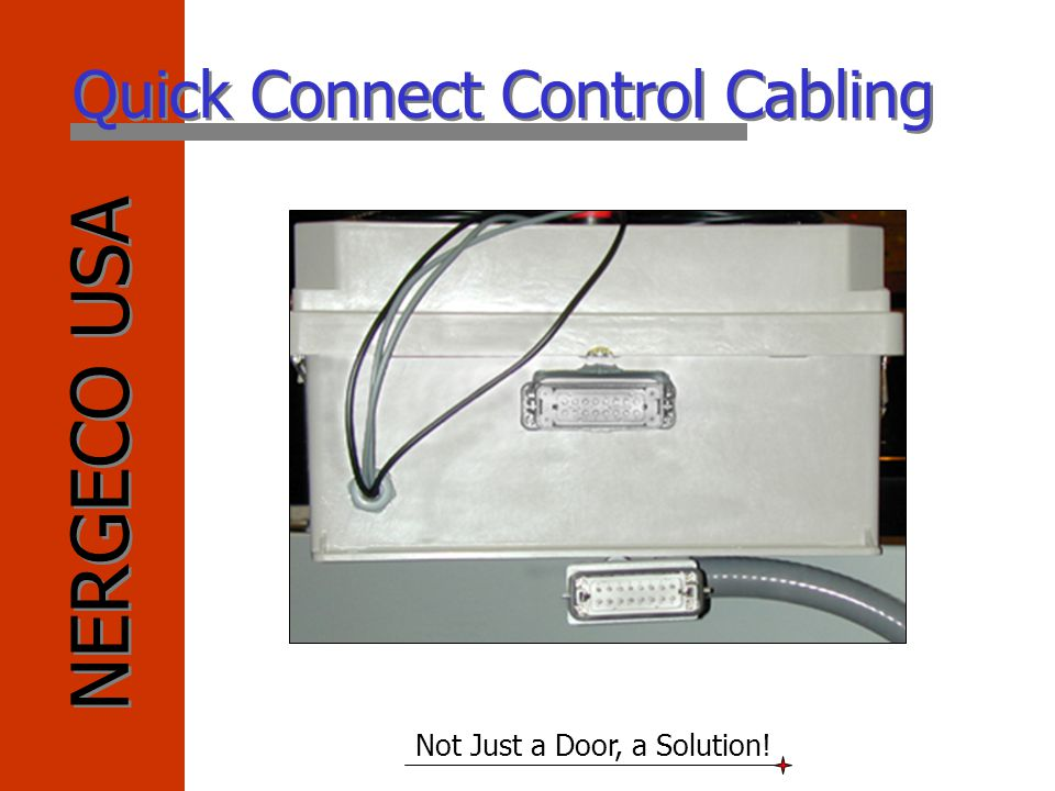 Quick Connect Control Cabling