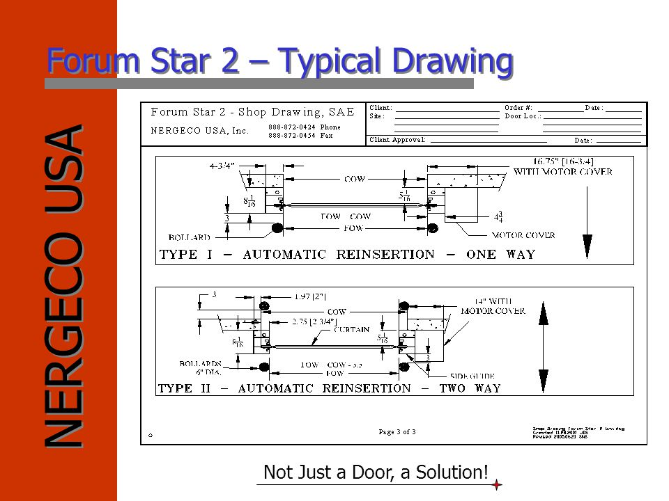 Forum Star 2 – Typical Drawing