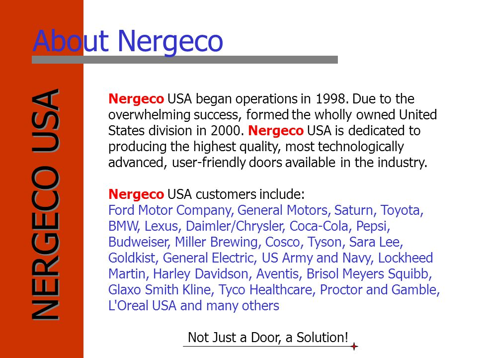 About Nergeco
