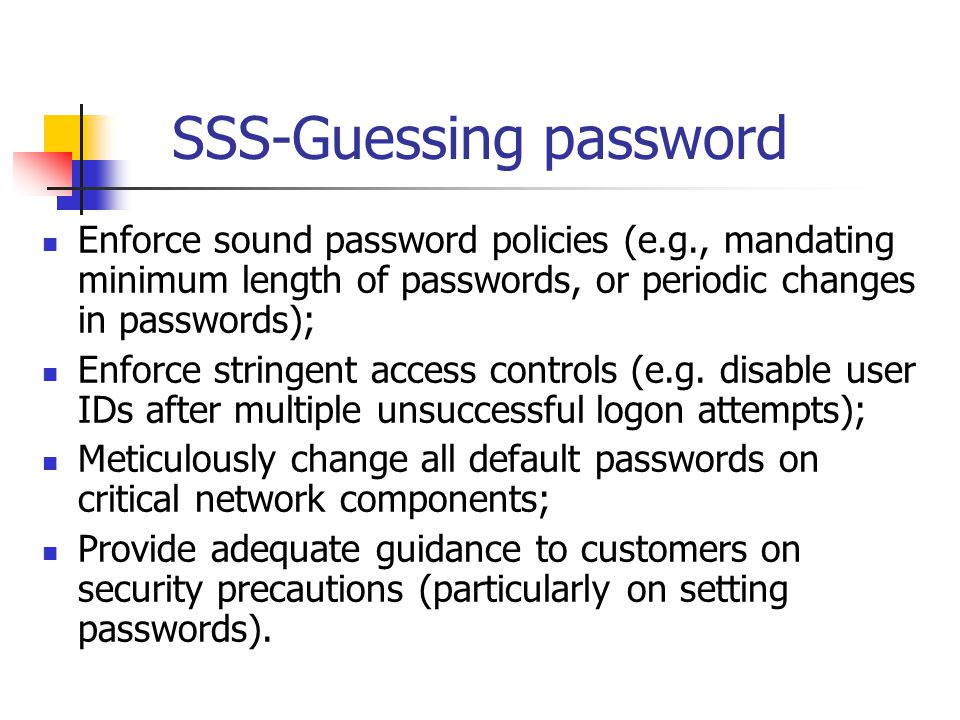 SSS-Guessing password