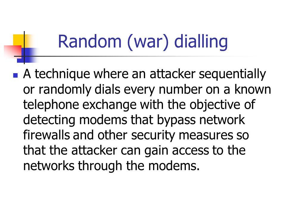 Random (war) dialling