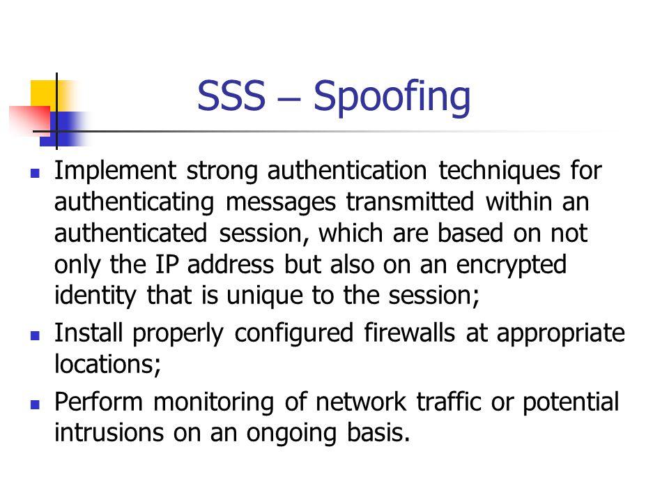 SSS – Spoofing