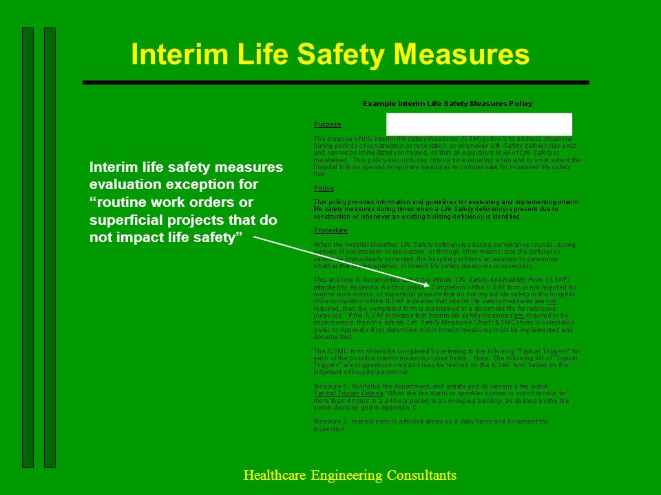 Interim Life Safety Measures