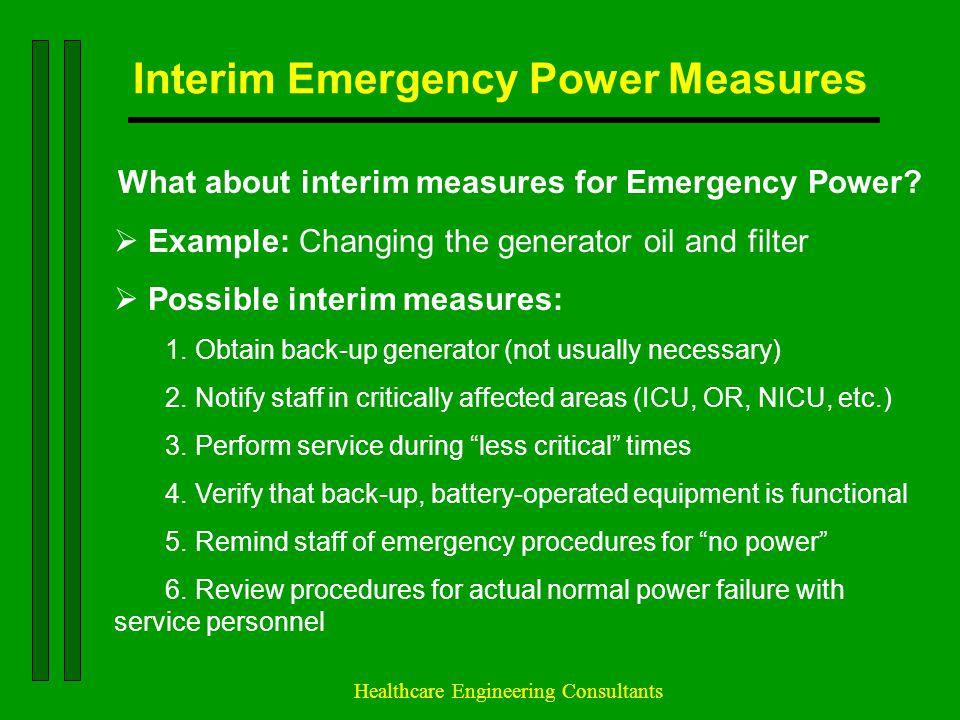 Interim Emergency Power Measures