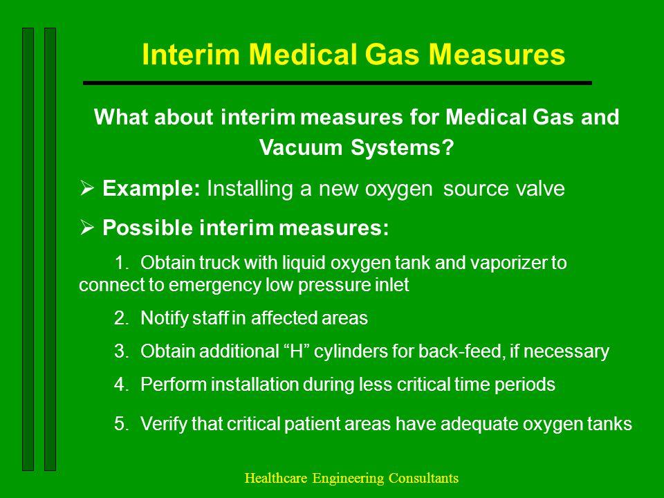 Interim Medical Gas Measures
