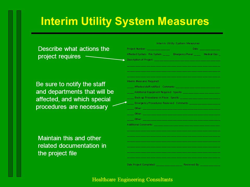 Interim Utility System Measures