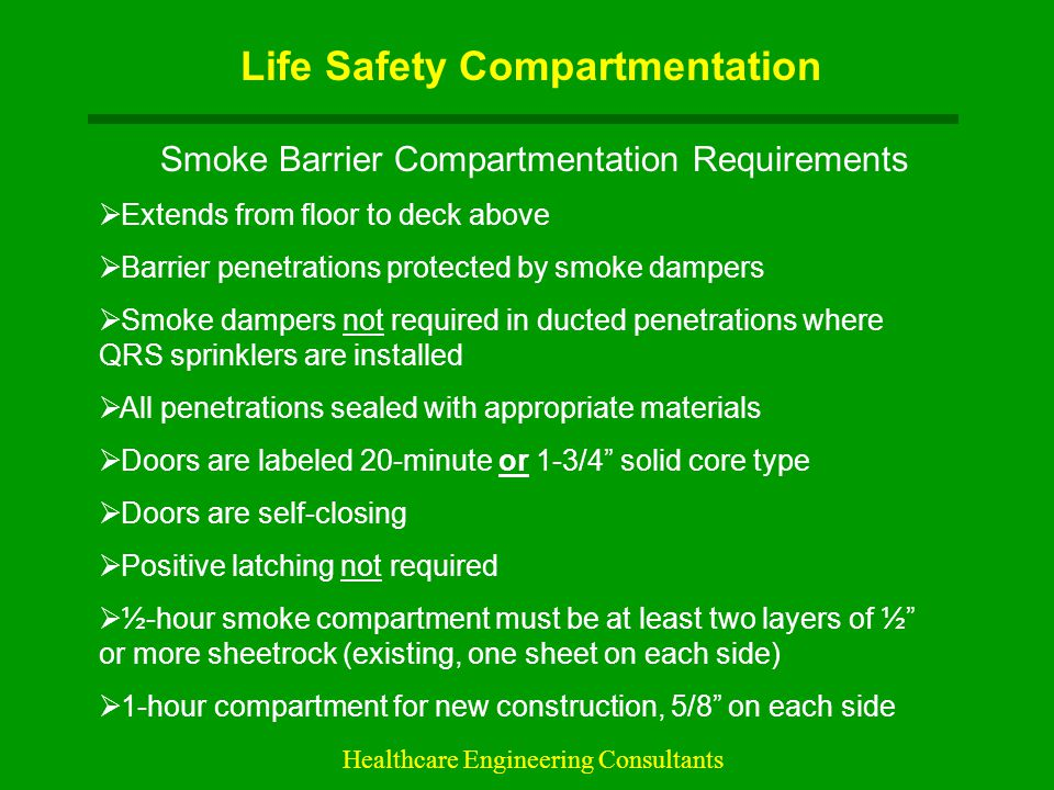 Life Safety Compartmentation