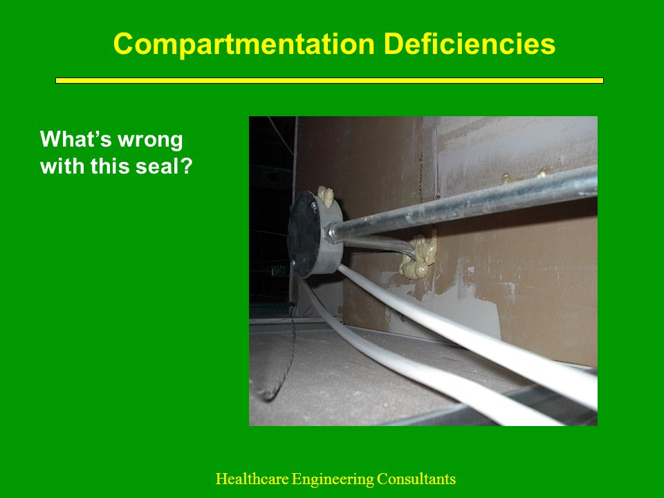 Compartmentation Deficiencies