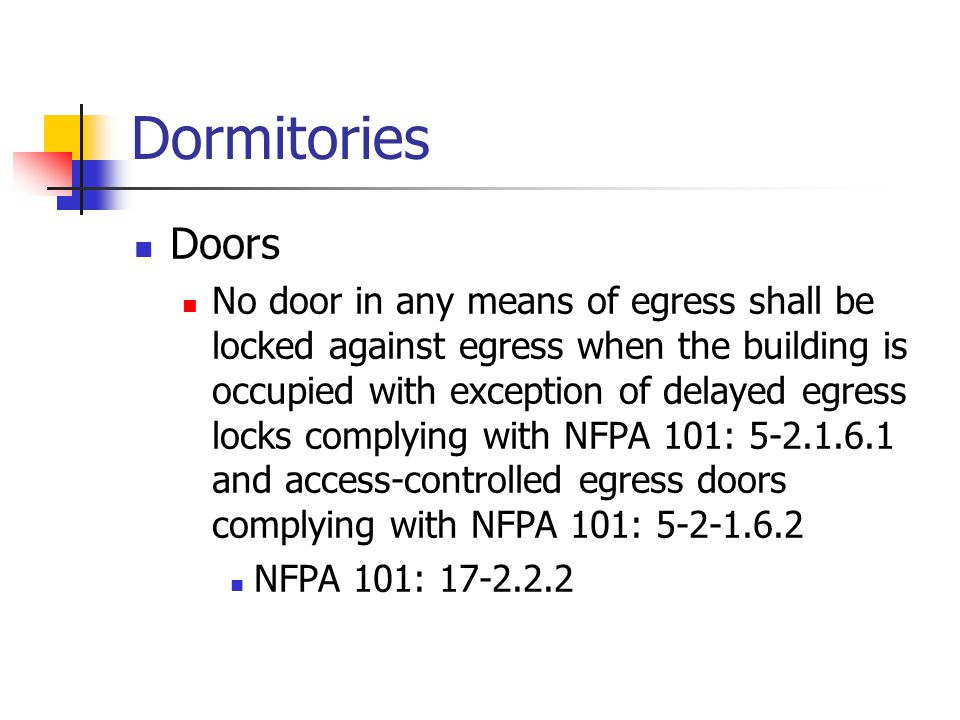 Dormitories Doors.