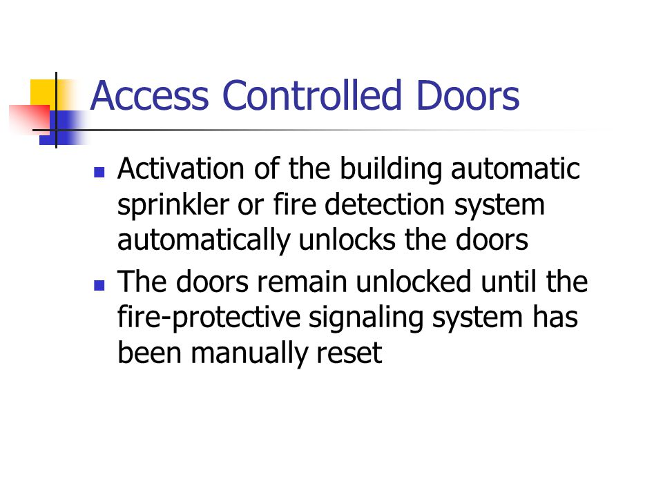 Access Controlled Doors